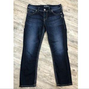 Silver Jeans Suki Capri Dark Wash ~Size 28~